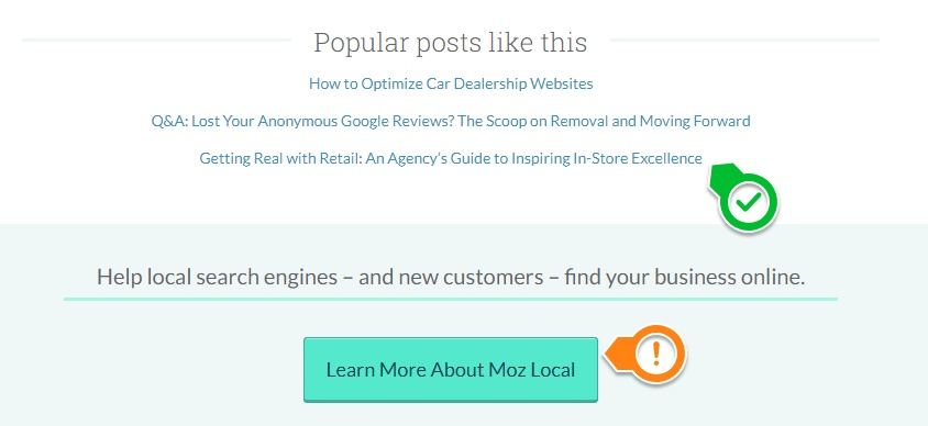 moz recommended articles and cta