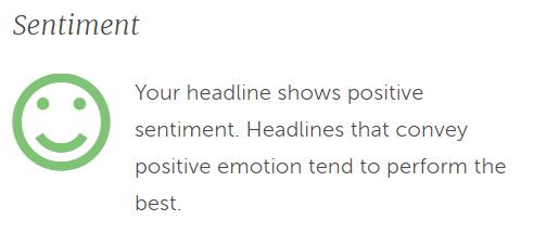 article sentiment