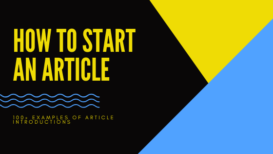 writing article introductions