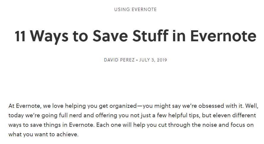 evernote article