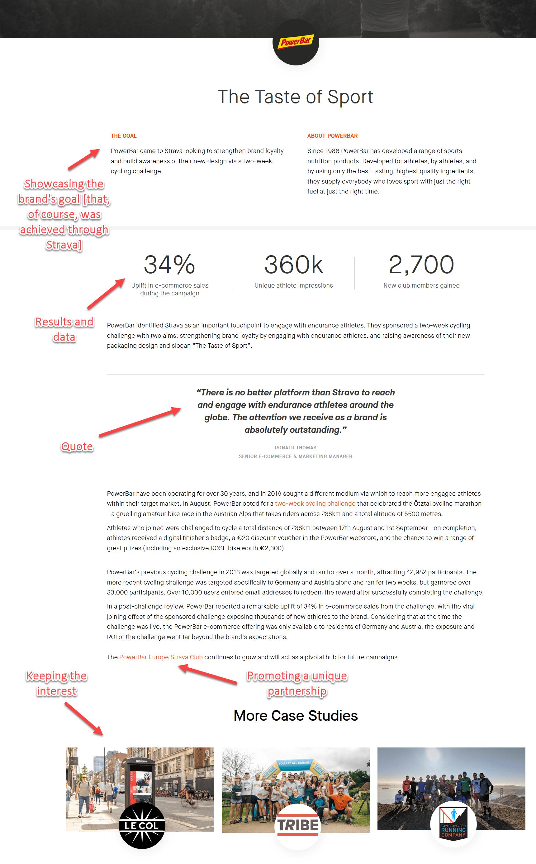 Strava B2B case study structure