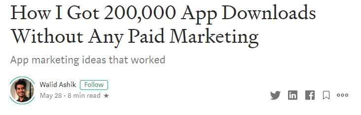 medium headline
